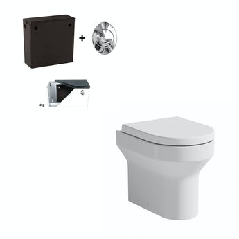Orchard Wharfe back to wall toilet with soft close toilet seat and concealed cistern