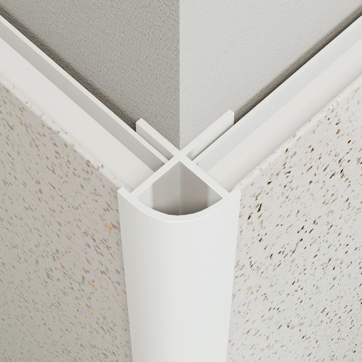 Multipanel Economy type W white external corner profile