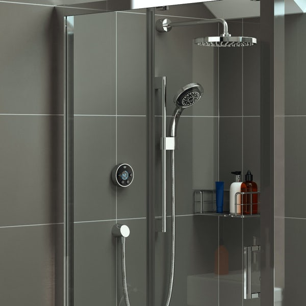 Mira Platinum dual rear fed digital shower pumped