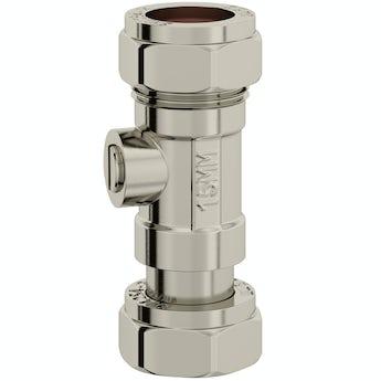 Universal toilet inlet shut off valve