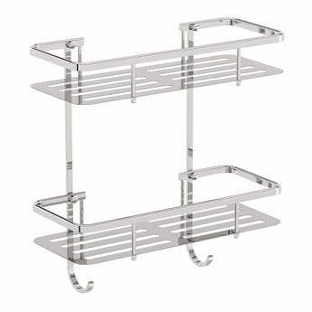 Options brass double shower caddy