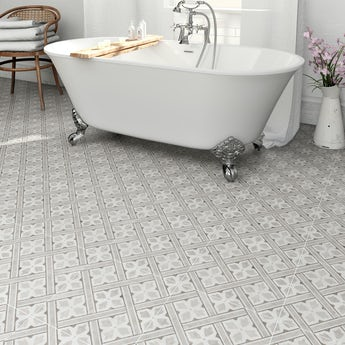 Laura Ashley Heritage Mr Jones grey charcoal matt tile 331mm x 331mm