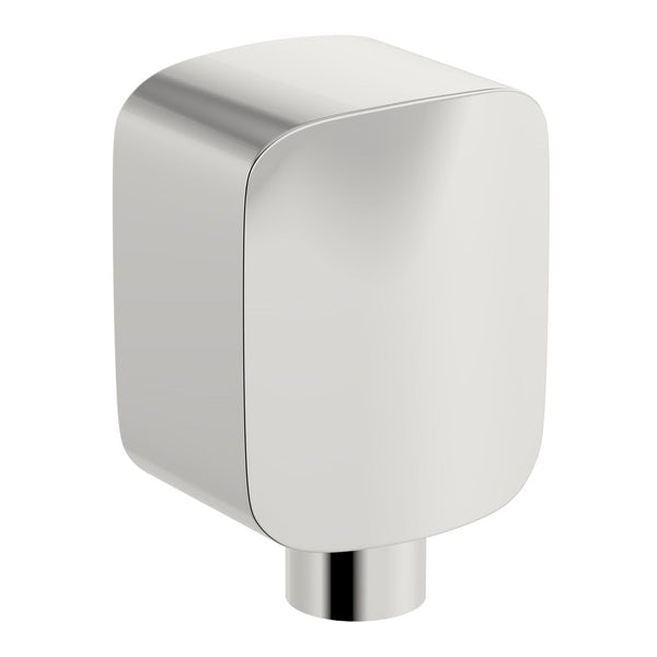 SmarTap black smart shower system with square slider rail and wall shower set