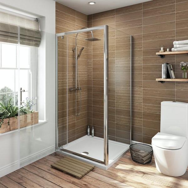 6mm square pivot shower enclosure