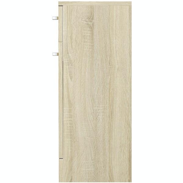 Eden oak multi drawer unit 300mm