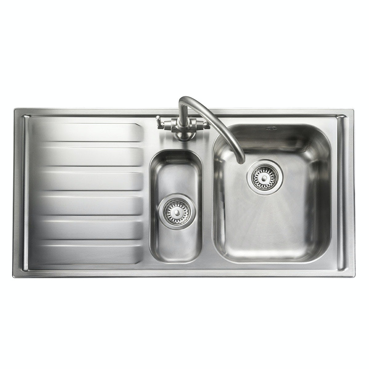 Rangemaster Manhattan 1.5 bowl left handed kitchen sink with waste kit