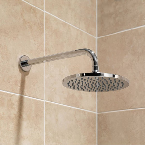 Circular Shower Head 200mm & Wall Arm