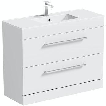 Chamonix vanity drawer unit and basin 900mm