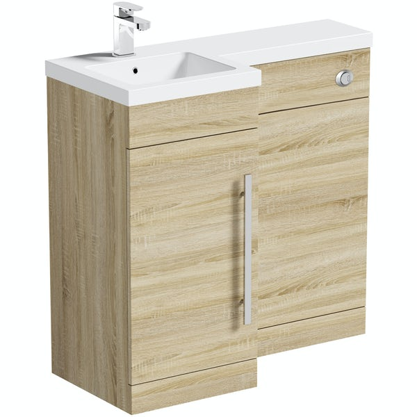MySpace Oak Combination Unit LH including Concealed Cistern