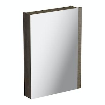 Arden walnut mirror cabinet