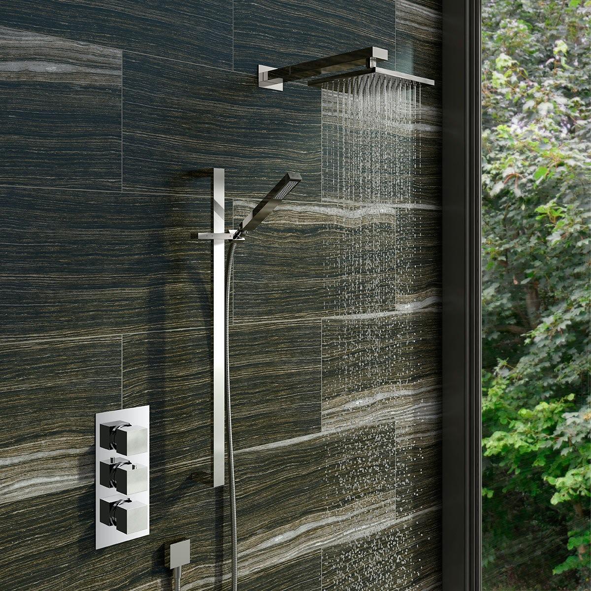 Mode Ellis Thermostatic Triple Shower Valve Shower Set ...
