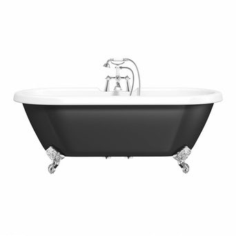 Shakespeare Black Roll Top Bath Special Offer