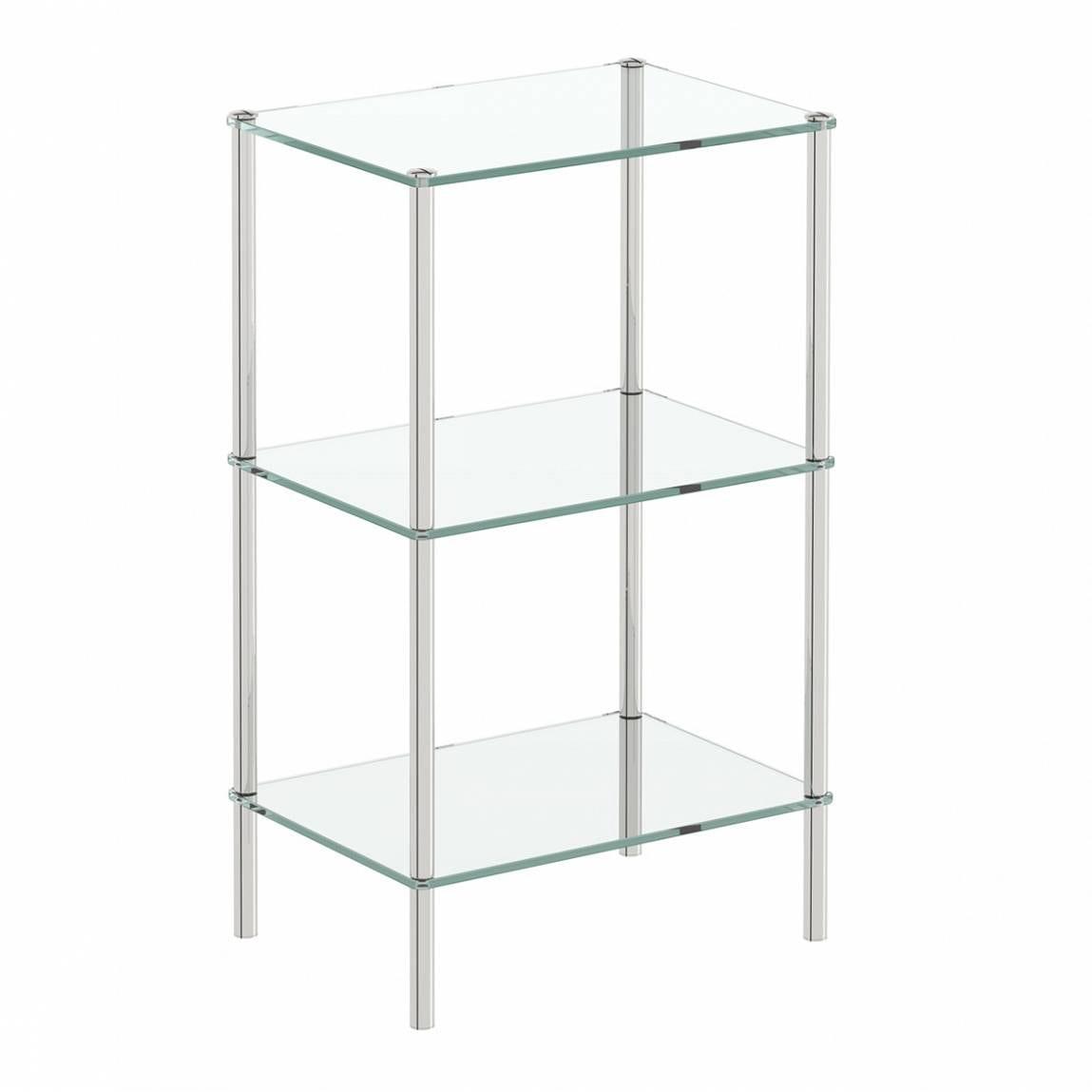 Orchard Options freestanding square 3 glass shelf unit