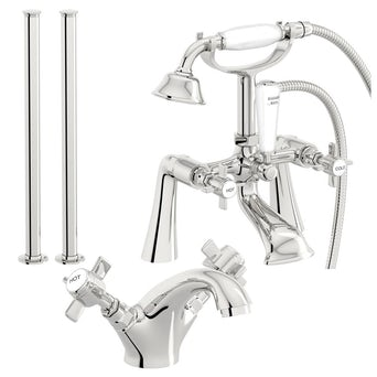 Hampshire Basin and Bath Shower Mixer with Standpipe Pack