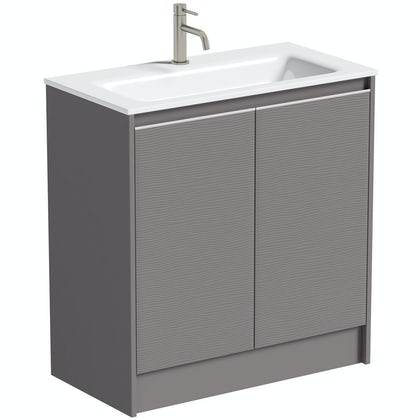 Mode Banks lava stone matt vanity unit 800mm