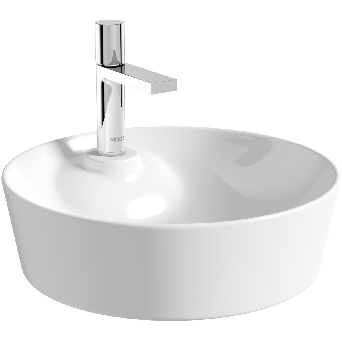 Mode Fairey round thin edge 1 tap hole basin 450mm with waste