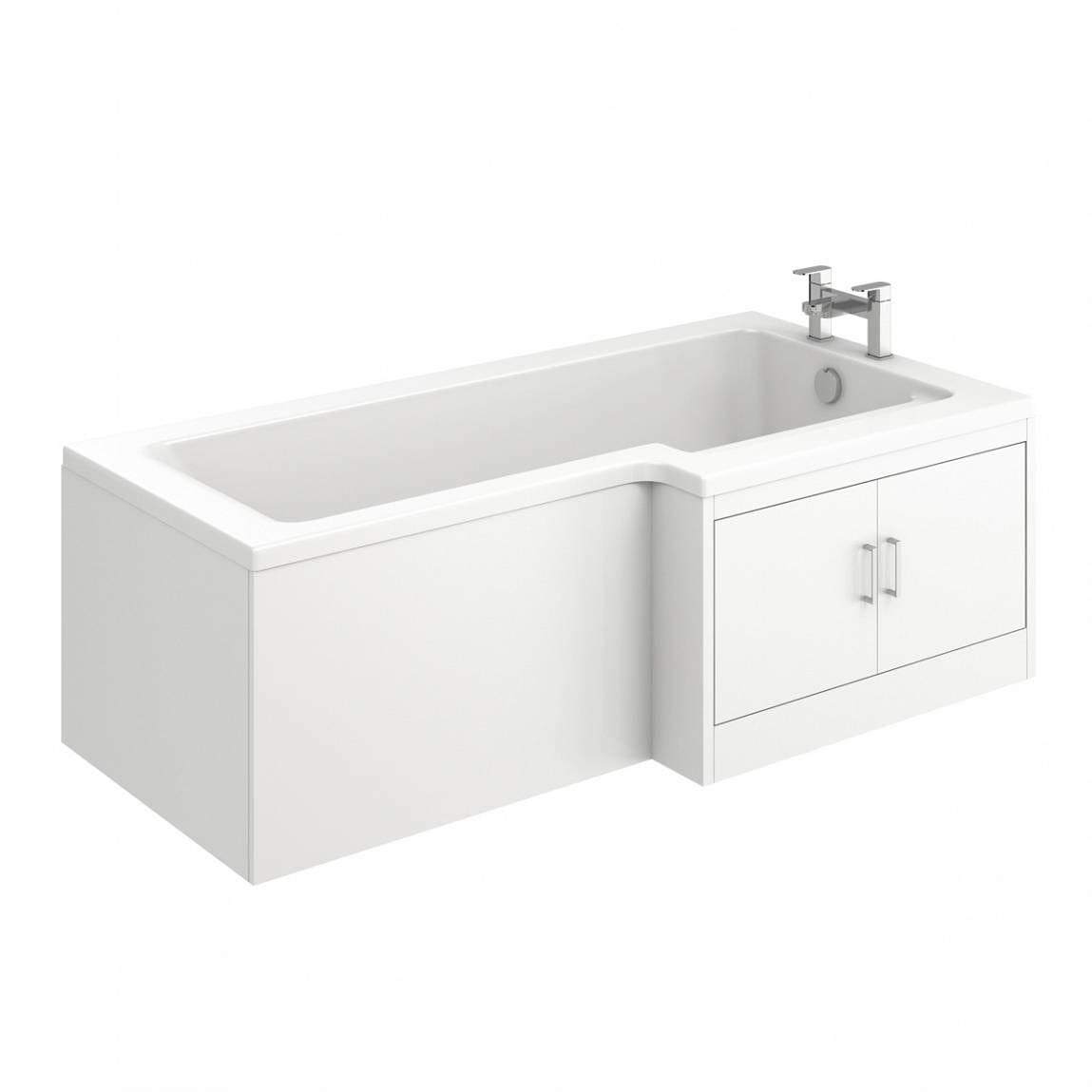 MySpace Water Saving L Shape Shower Bath Right Hand with Storage Panel