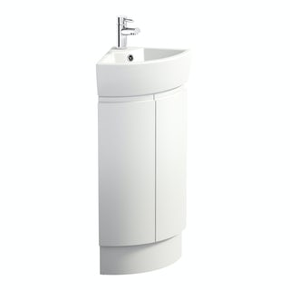 Harrison Snow corner vanity unit and basin