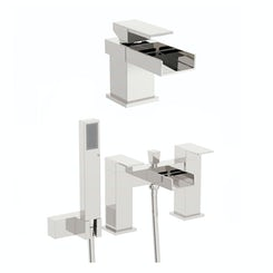 Mode Metro basin and bath shower mixer tap pack
