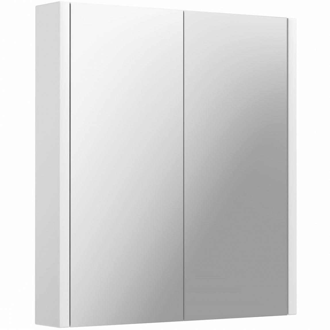Odessa White 2 Door Bathroom Mirror Cabinet