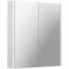Odessa white 2 door bathroom mirror cabinet