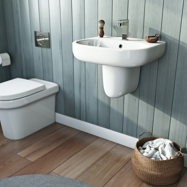 Mode Burton semi pedestal basin 550mm