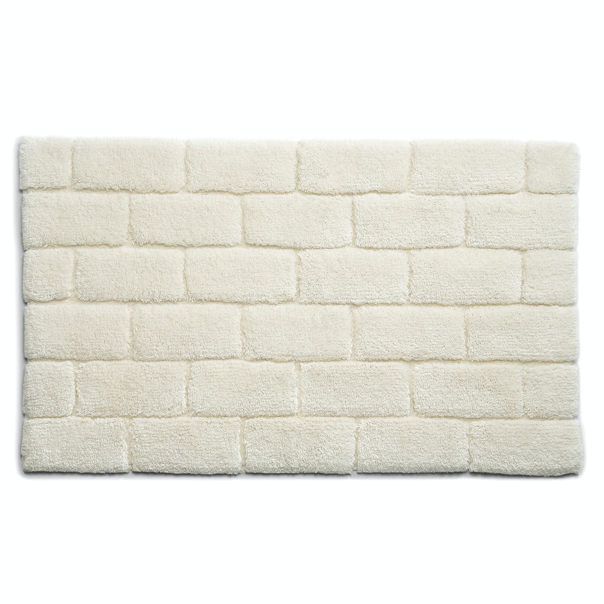 Hug Rug luxury bamboo brick cream bathroom mat 50 x 80cm