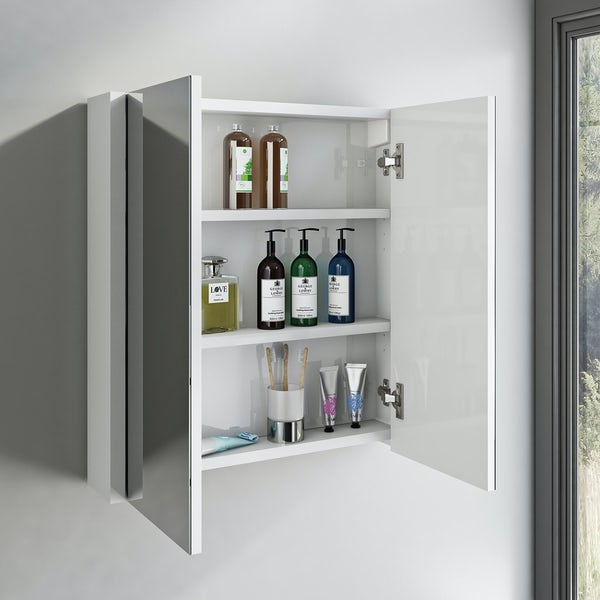 Derwent 2 door mirror cabinet