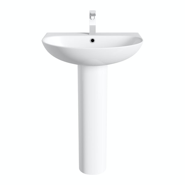 Hardy full pedestal basin 555mm