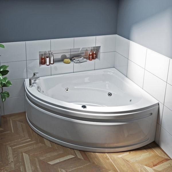 Mode Camden right handed corner 12 jet whirlpool bath