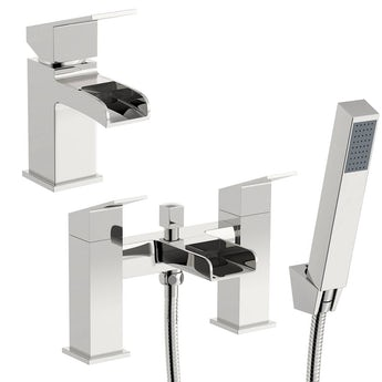 Escala basin and bath shower mixer tap pack