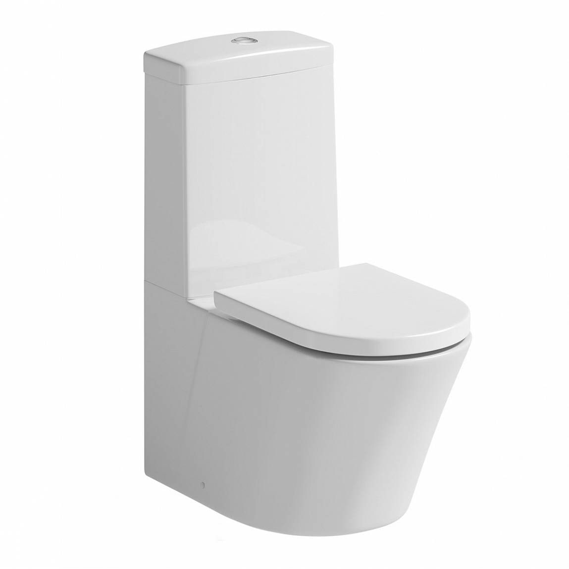 Mode Tate close coupled toilet with soft close seat with pan connector