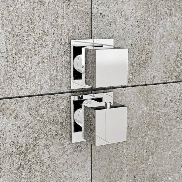 Mode Cooper square concealed twin valve offer pack