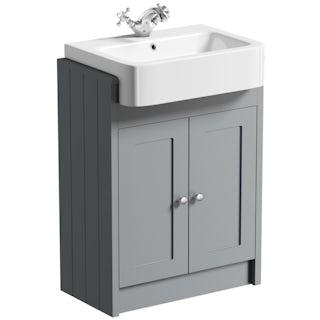 Dulwich grey semi recessed vanity