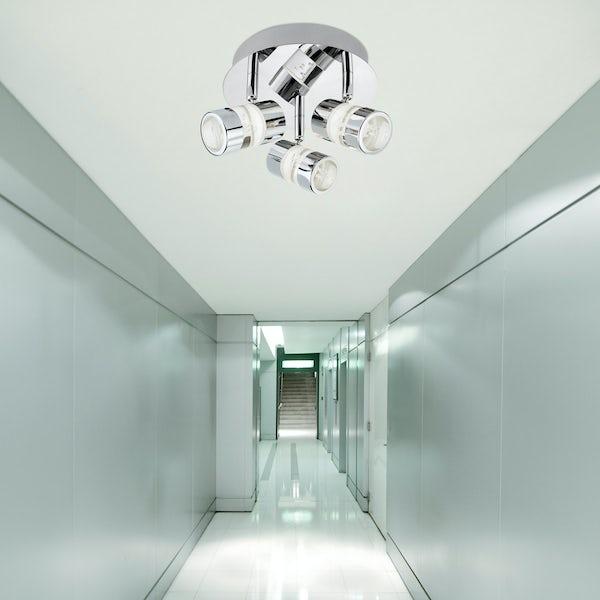 Searchlight Bubbles effect 3 light bathroom ceiling light