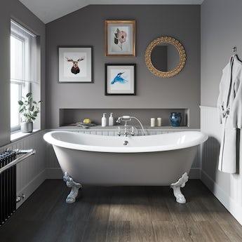 The Bath Co. Dover keystone grey cast iron bath