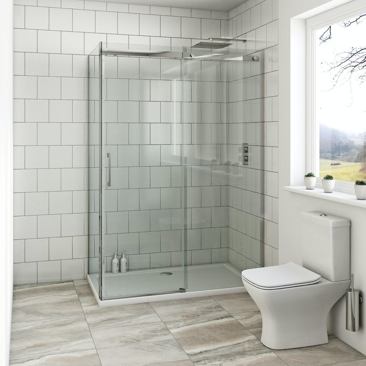 Bathroom suites with shower enclosures - Mode Harrison 8mm Easy Clean Rectangular Shower Enclosure 1200 X 800