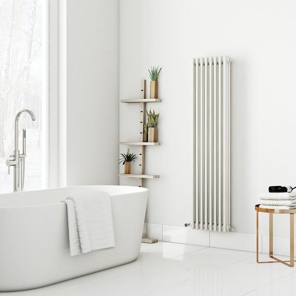 Dulwich vertical white triple column radiator 1500 x 380