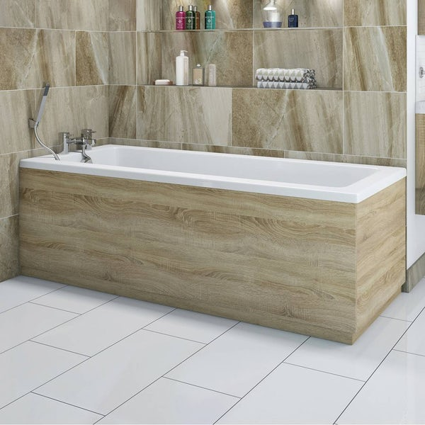 Drift Sawn Oak Wooden Bath Front Panel 1700mm