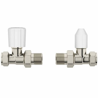 Clarity straight radiator valves