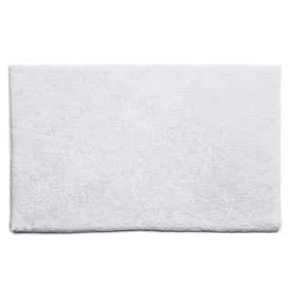 Hug Rug luxury bamboo plain white bathroom mat 50 x 80cm