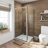 Orchard 6mm square pivot shower enclosure 700 x 700