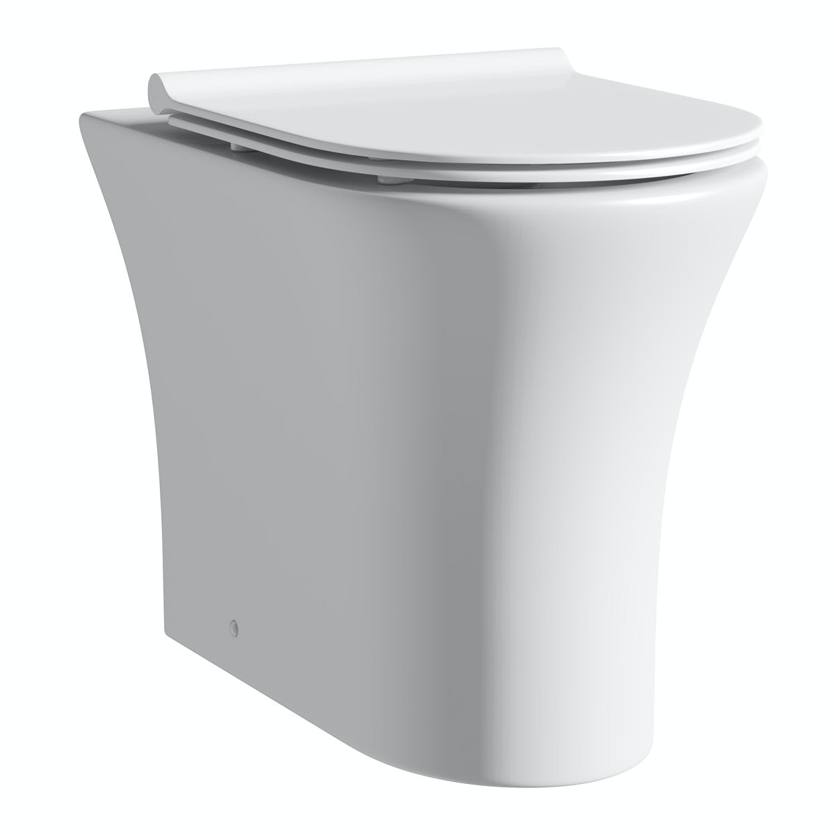Mode Hardy rimless back to wall toilet with slimline soft close seat
