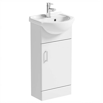 Sienna white cloakroom unit with basin 410mm