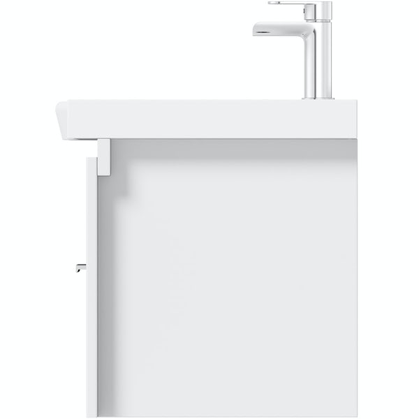 Mode Burton white wall hung vanity unit and basin 1200mm