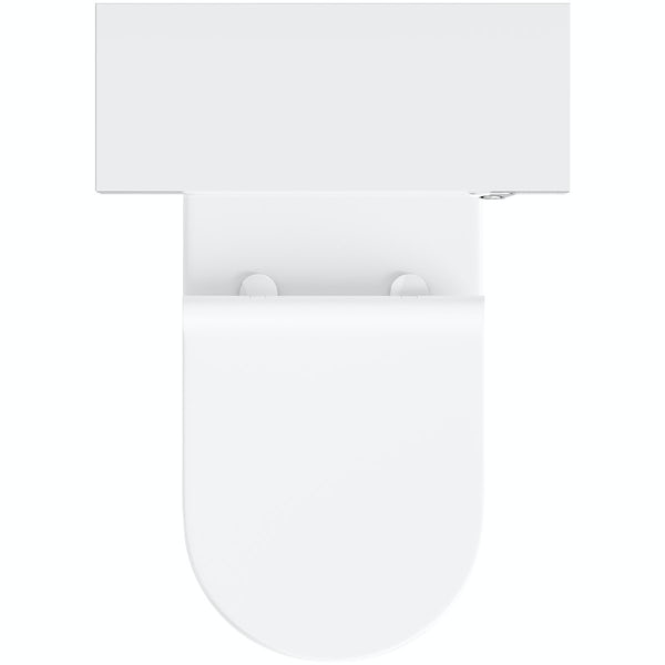 Tate white and oak tall toilet unit with Mode Arte back to wall toilet