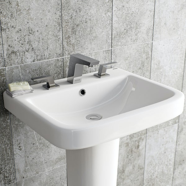 Mode Carter 3 hole basin mixer tap