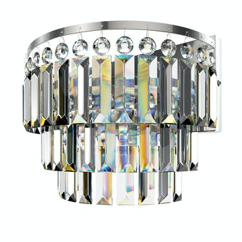 Lucille wall mounted bathroom chandelier