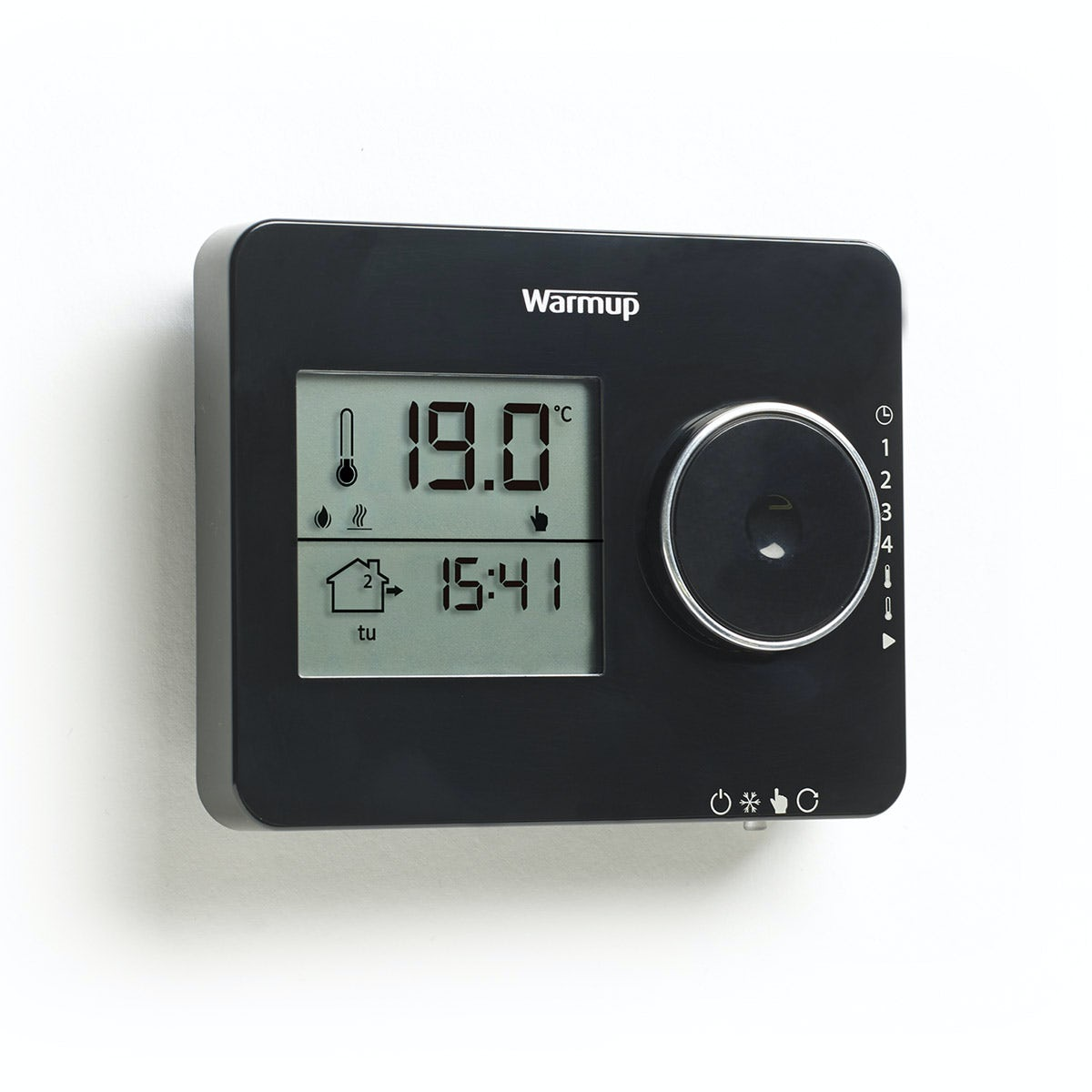 Warmup Tempo underfloor heating thermostat piano black