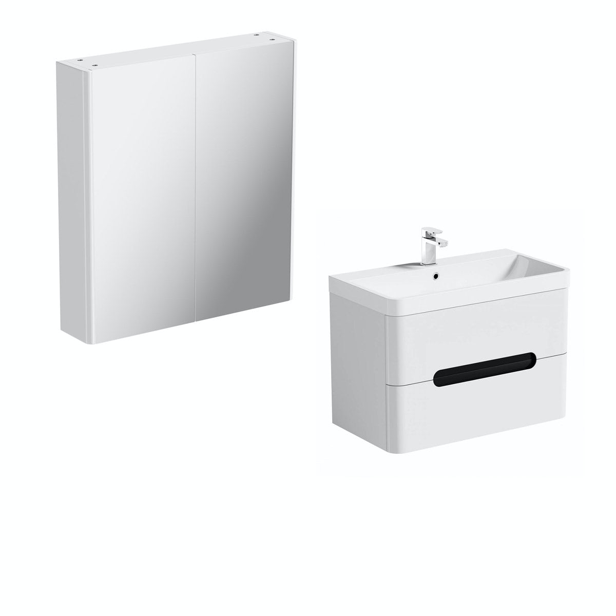 Mode Ellis essen wall hung vanity unit 800mm and mirror cabinet offer